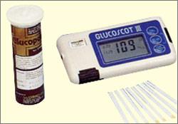 The last model adopting enzymatic color comparison method GLUCOSCOT III GT-4330(1989)