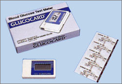 The first model adopting enzymatic electrode method GLUCOCARD GT-1610(1991)